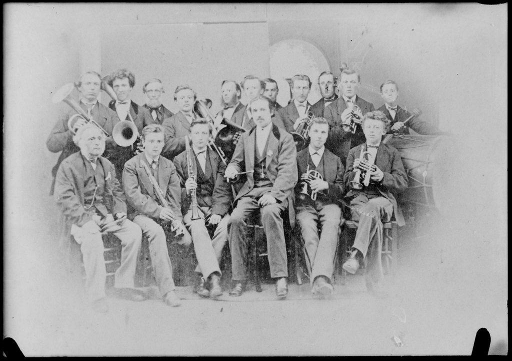 De Harmonie uit Schagen omstreeks 1880