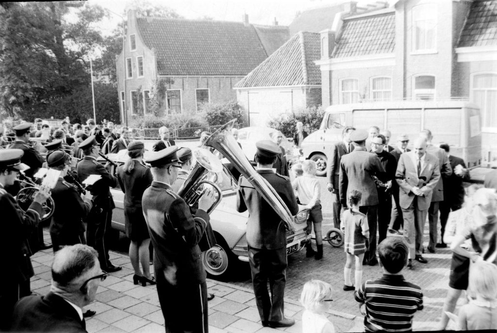100 jarig bestaan van de Schagens Harmoniekapel in 1969