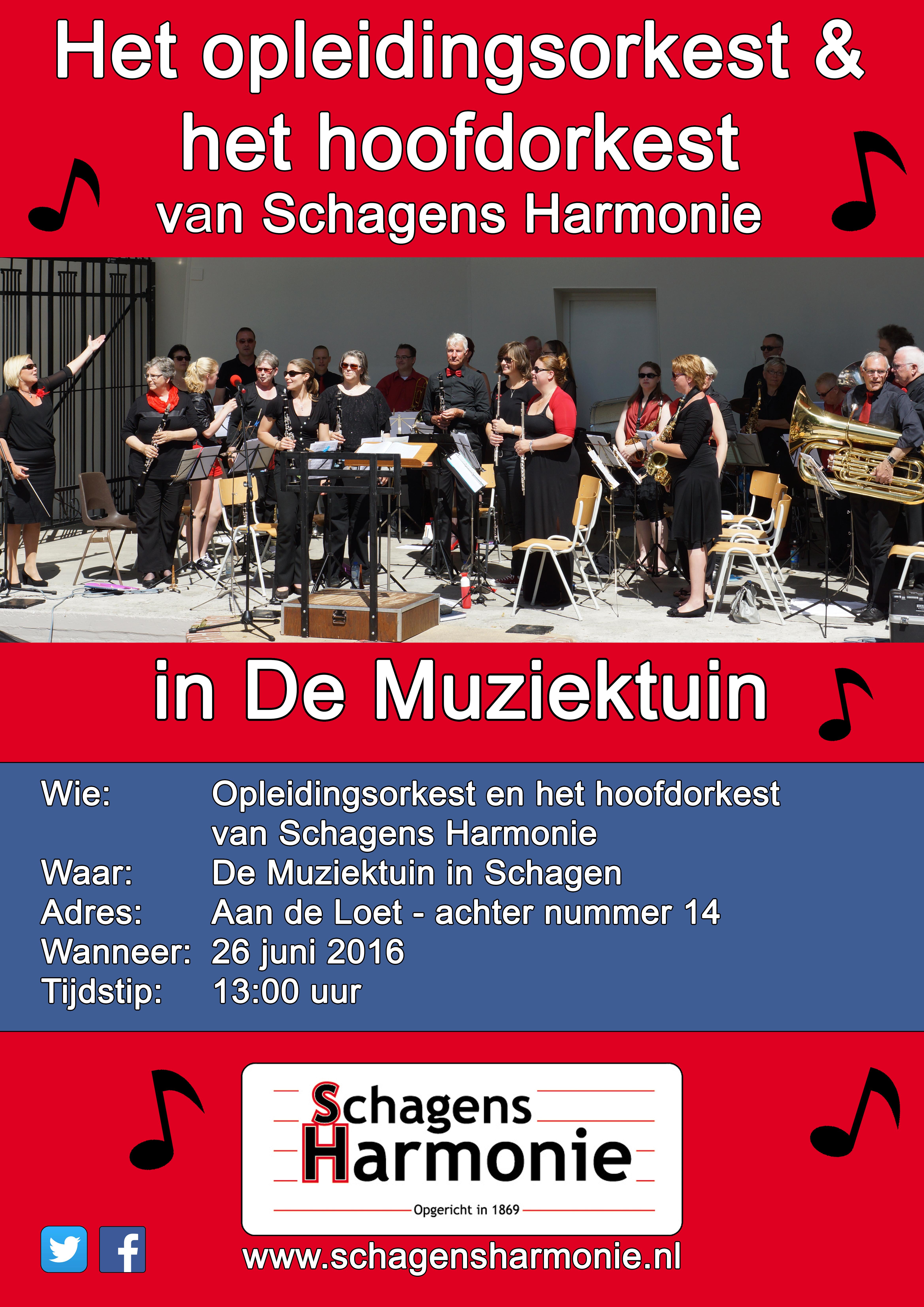 Concert OL en HO in muziektuin